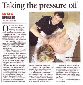 Sunshine Coast Daily, Better Business section, Tuesday 13 December 2011, Pg20