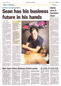Sunshine Coast Daily, Better Business section, Tuesday 30 July 2013, Pg23
