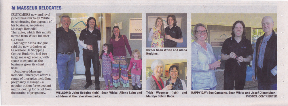 Sunshine Coast Daily Article on Acquiesce Grand Opening